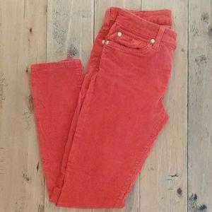 7 For All Mankind Orange Corduroy Pants 26